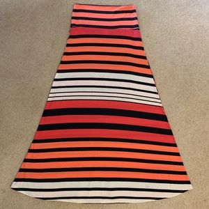 Mossimo Striped Maxi Skirt Size Medium